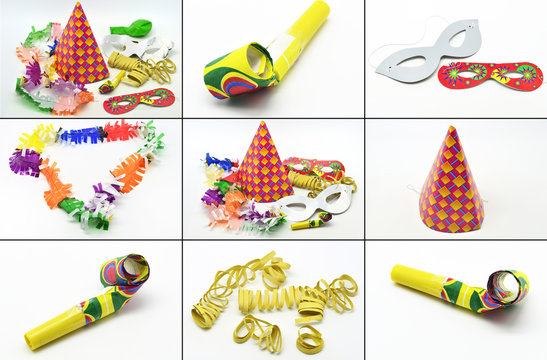 Collage party time: new year cotillion partyware