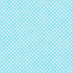 Bright Teal and White Small Polka Dots Pattern Repeat Background
