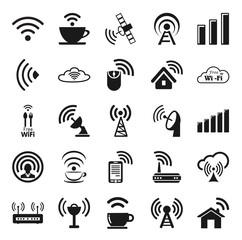 Set of twenty five wifi icons