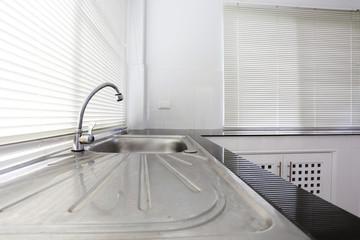 white kitchen room