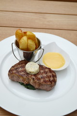 entrecote and  French fries