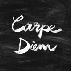 Carpe diem. Handwritten quote. Inspiring poster