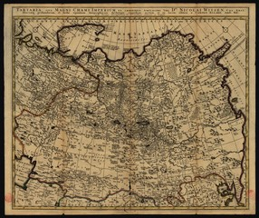 Antique Map of Grand Tartaria and Russia