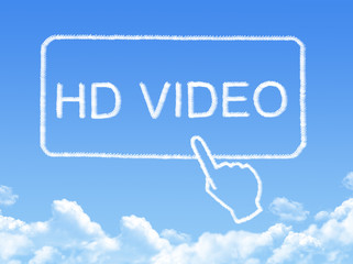 HD video message cloud shape