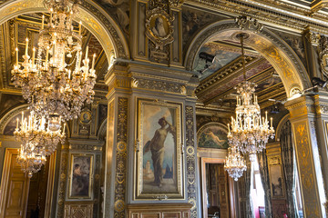Reception rooms of the city hall, Paris, France