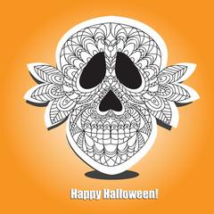 Dead  Skull  - helloween card