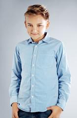 Young teenage boy posing