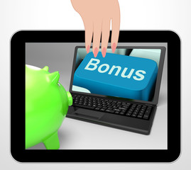 Bonus Key Displays Incentives And Extras On Web