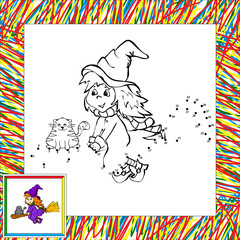 Vector witch dot to dot