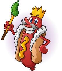Hot Dog King Cartoon Character