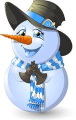 Christmas Snowman Scene