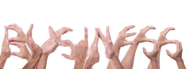 hands form the word business