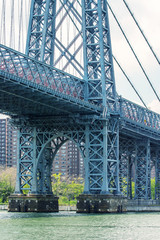 Williamsburg Bridge in New York as seen from East River
