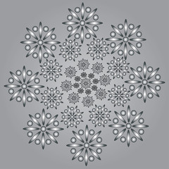 The pattern of flowers