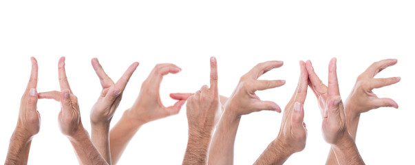 hands form the word hygiene