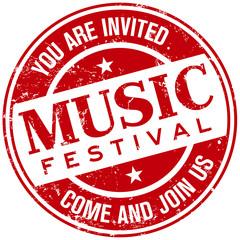 music festival stamp