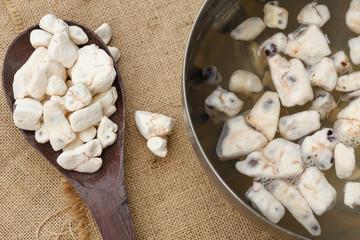Fotorolgordijn Baobab Dried Baobab fruit pulp