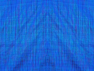 Blue fabric with lines as a background or texture
