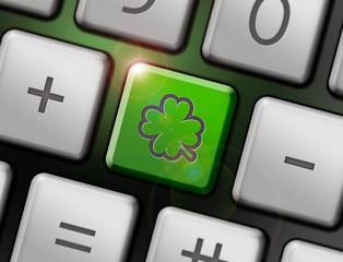 kleeblatt symbol tastatur