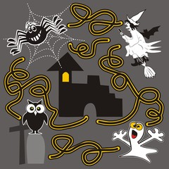 Halloween, labyrinth