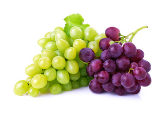 Grapes isolated on white. Fototapete