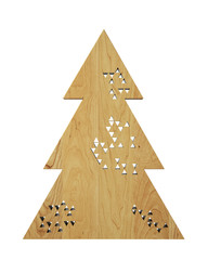 geometric wooden perforated modern design Christmas tree