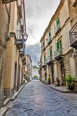 Walking through Sicilian village.