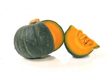 Japanese pumpkin on white background