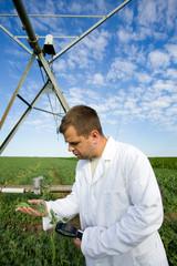 Agronomist in field
