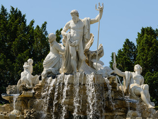 Schonbrunn Neptune fountain