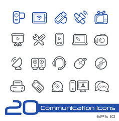 Communication Icons -- Line Series