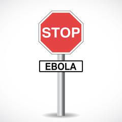 panneau : stop ebola
