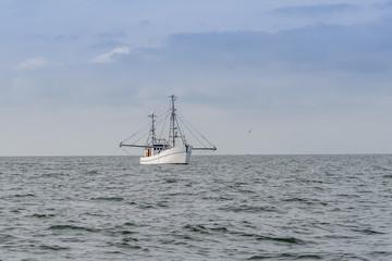 A trawling fishing boat