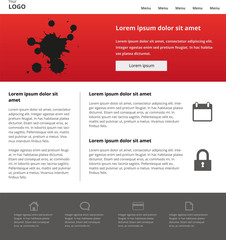 Modern website design template. Clear landing page