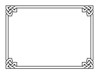 Gothic style black ornamental decorative frame