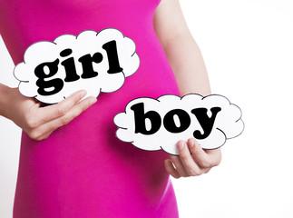 boy or girl expecting newborn baby