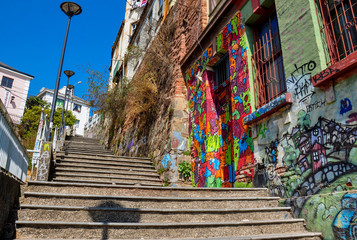 Little streets of Valparaiso, Chile