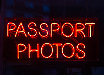 Passport Photo Sign