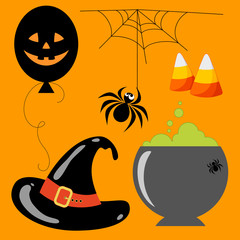 Set Halloween Elements