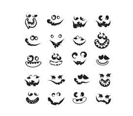 ghost faces, pumpkin faces