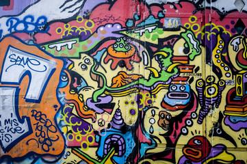 Mur de graffiti fun