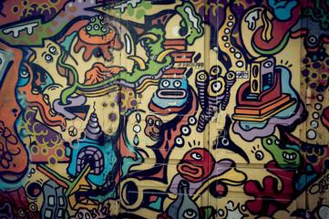 Mur de graffiti couleur