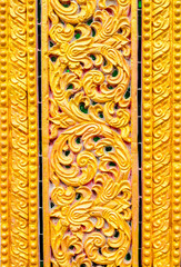 Thai art on the wall in temple