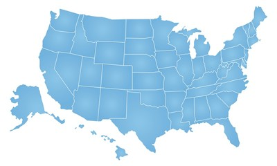United States of America map Wall mural