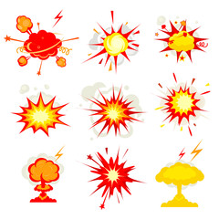Explosion, blast or bomb bang fire