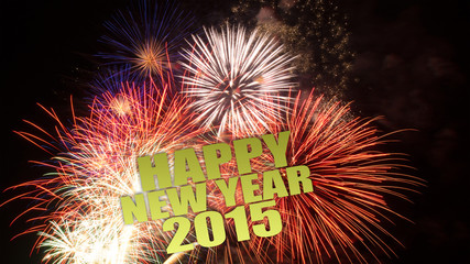 happy new year 2015 feuerwerk