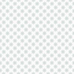 Light blue star pattern on white seamless