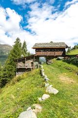Walser houses in Mascognaz (Italy)