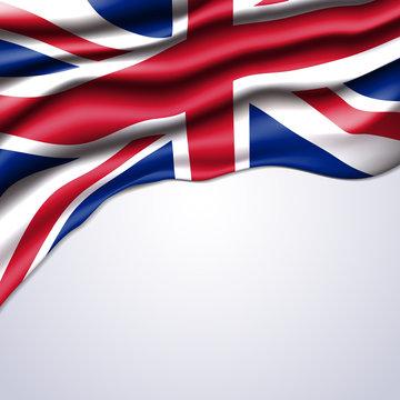 union jack flag realistic vector