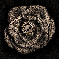Rose of skulls and bones